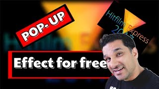 How to get Pop Up effect in Hitfilm Express 2017 (FREE SOFTWARE) - 2 mins Thursday - Hindi