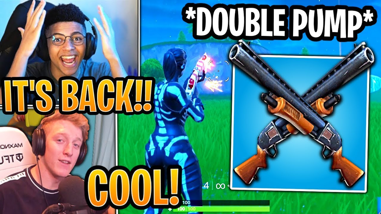 Streamers Show & React  to *NEW* Double Pump! - Fortnite Best and Funny Moments