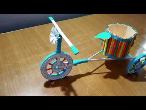 How to make a color paper handmade cycle I DIY Color paper cycle craft idea - part 1