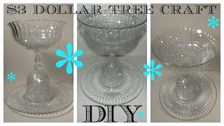 DIY - $3 DOLLAR TREE SERVING DISH - HOLIDAYS - WEDDINGS - CELEBRATION
