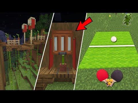 Lồng đèn bí ẩn ! Tre trong minecraft 1.14 - bamboo of 1.14-ไม้ไผ่- โคมไฟ - 동영상