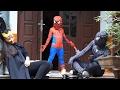 Spiderman Baby and Spiderman father Hulk go to school W/Joker, Maleficent Superhero funny!!!