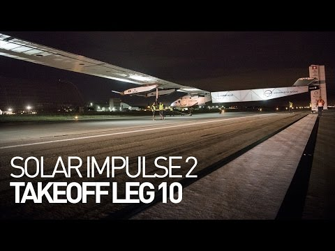 LEG 10 LIVE: Solar Impulse Airplane - Takeoff from San Francisco