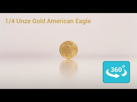 1/4 Unze American Eagle Gold in 360° Ansicht