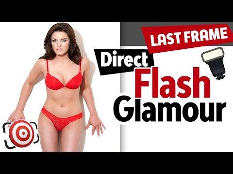 Direct Flash Glamour Lighting Tutorial.  Studio Lighting with Speedlight or Monolight Flash.