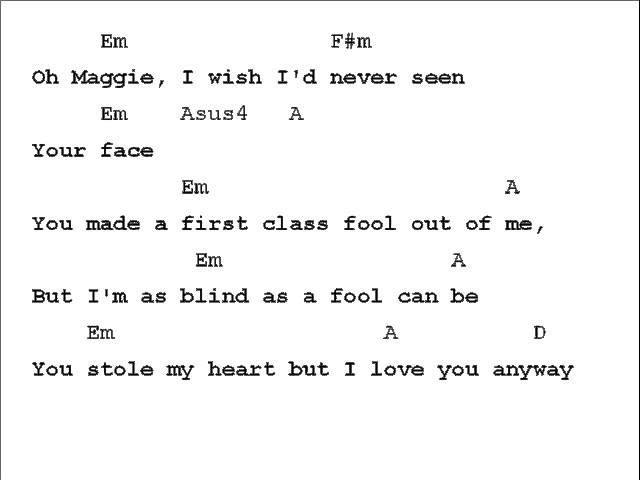 Rod Stewart Maggie May Chord Chart - clipzui.com