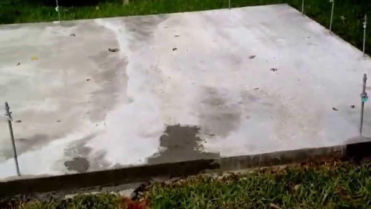 Building a 10x12 Shed - Part 7: Slab Poured, Ready for Framing - YouTube