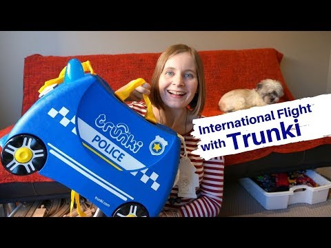 What's In My Bag: Kid's Trunki Suitcase Packed For International Flight With Toddlers