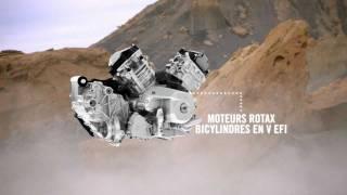 Moteur Rotax 650 bicylindre en V EFI de 60 ch refroidi par liquide
