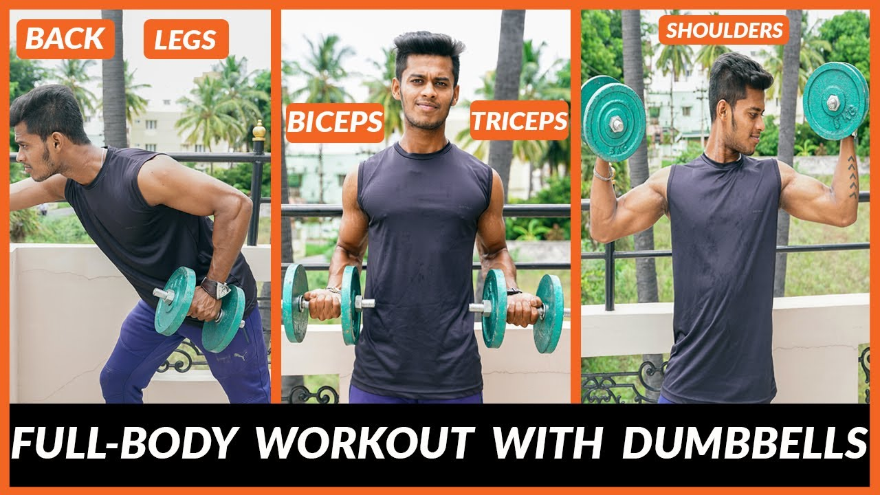 FULL-BODY Workout with DUMBBELLS   Men's Fashion Tamil