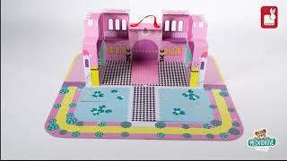 Dětská stavebnice Zámek pro princeznu Cardboard Wo