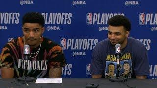 Jamal Murray & Gary Harris Postgame Interview - Game 2 | Spurs vs Nuggets | 2019 NBA Playoffs
