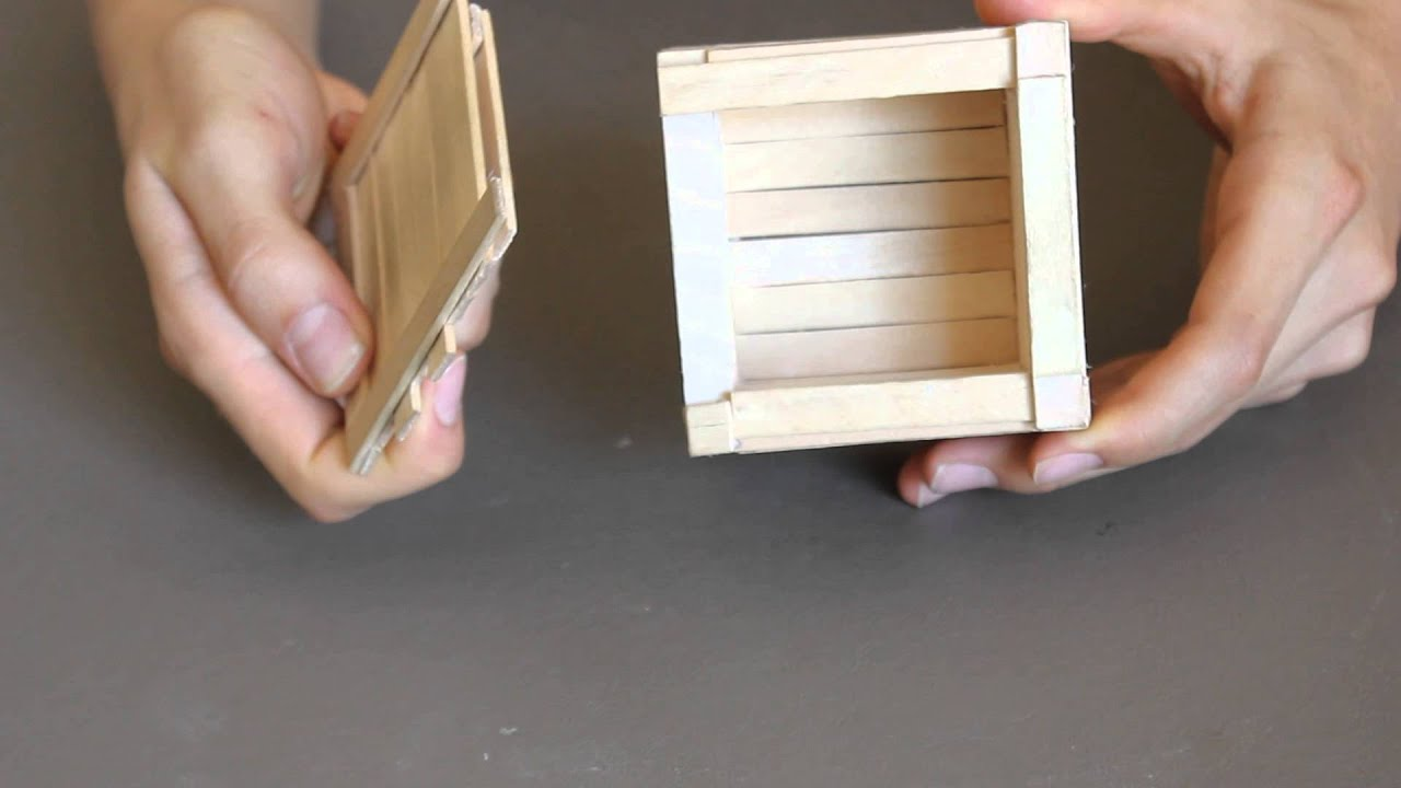 Child proof popsicle stick puzzle box youtube for What can i make with boxes
