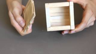 Child Proof Popsicle Stick Puzzle Box