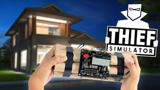 Hiding A Bomb Inside A Home?! - NEW Rich Neighborhood - Thief Simulator Gameplay