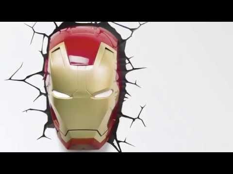 Marvel Comics 3D LED světlo - Iron Man Mask