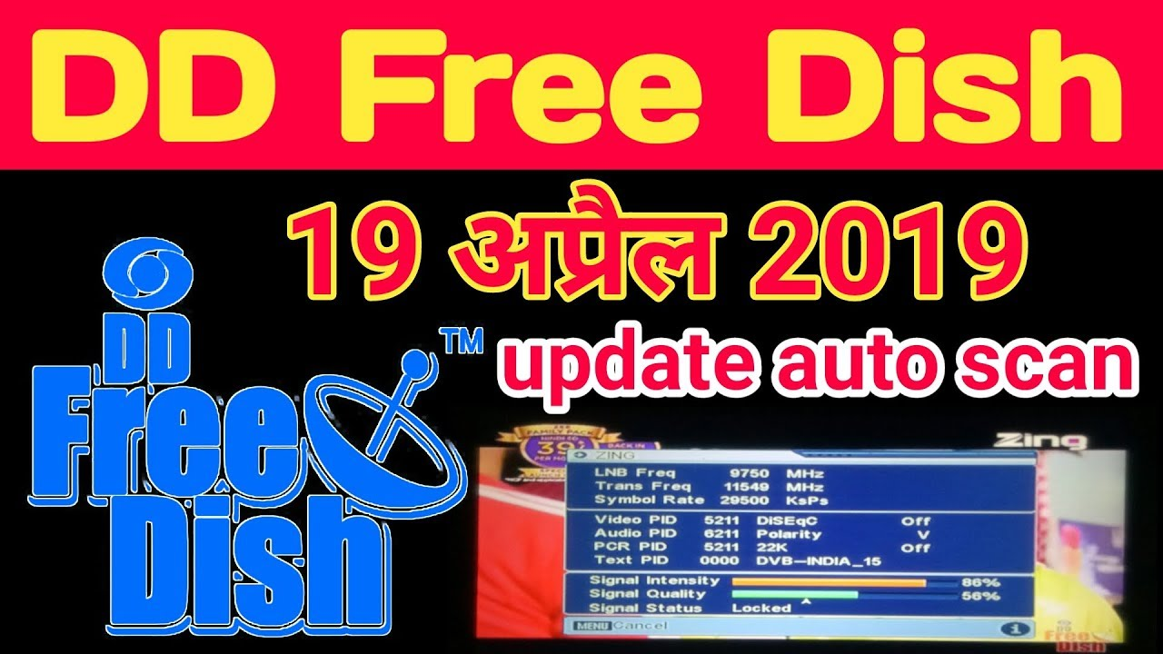 DD free Dish Latest channel list / 19 April 2019 // Dish Tech