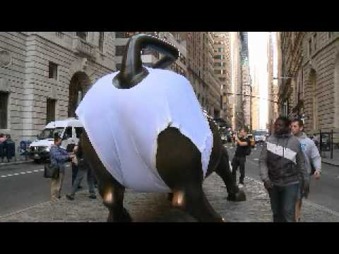 The Wall Street Bull wears GOLDTOE Briefs