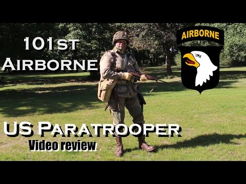 101st Airborne US Paratrooper uniform video review