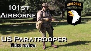 101st Airborne US Paratrooper uniform video review