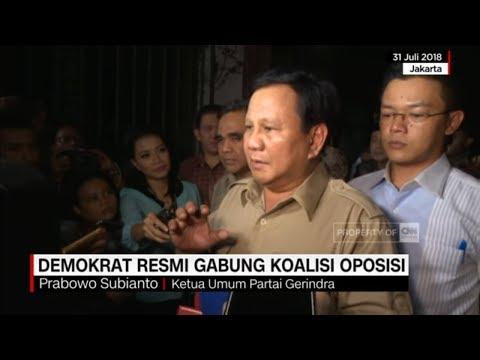 Prabowo: Kita Sangat Bahagia Dengan Bergabungnya Partai Demokrat