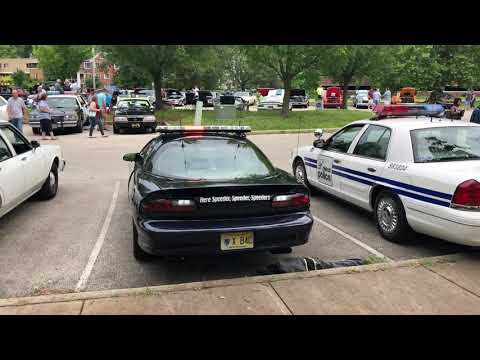 2002 Blue B4C Police Camaro NJ Rear