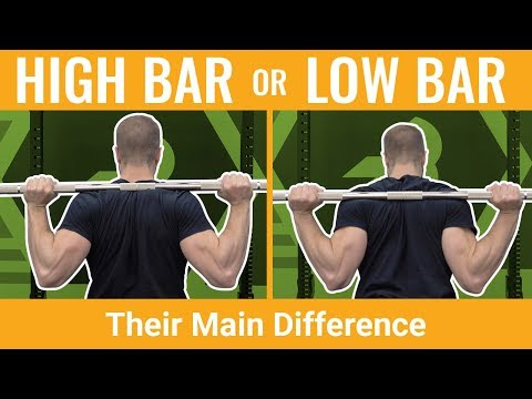 High-Bar Versus Low-Bar Squats: Their Differences and When