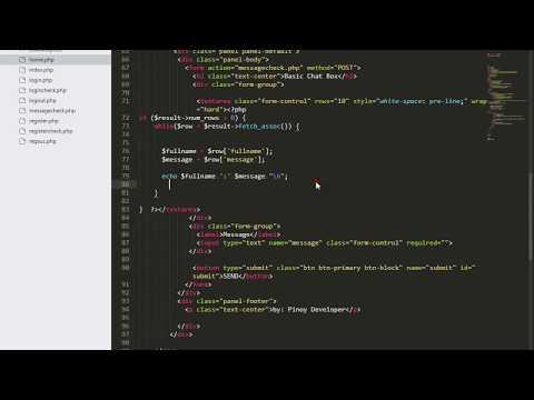 Basic PHP Login Register At Chat Message