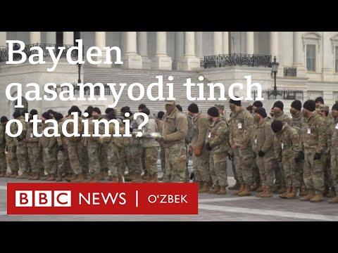Америка: Қуролли намойишлар бўлиши мумкин, Байденнинг қасамёди тинч ўтадими? Янгиликлар - BBC O'zbek