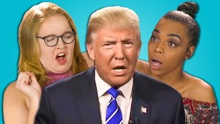 Repeat youtube video TEENS REACT TO DONALD TRUMP TAPE SCANDAL