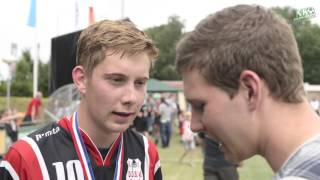 NK Veldkorfbal 2016 Interview Kaj Raterman