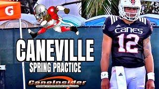 Miami hurricanes spring practice - 6'4 james williams 2021 commit interview - apr 3