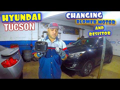 2013 Hyundai Tucson How to replace blower motor or resistor