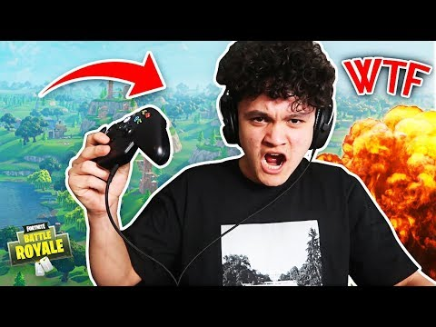 ANGRY KID BREAKS HIS CONTROLLER BECAUSE HE LOST A FORTNITE GAME