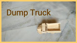 how to make dump car trucks toys for kids with cardboard box