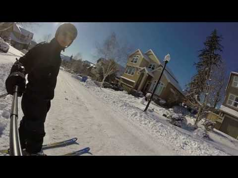 Jan 2017 Skiing in Portland, Oregon / Happy Valley neighborhood (near Clackamas)