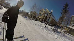 Jan 2017 Skiing in Portland, Oregon / Happy Valley neighborhood (near Clackamas)