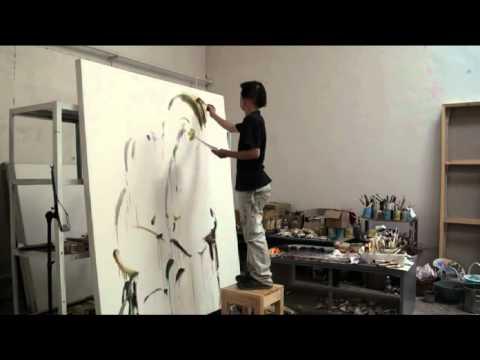 LIU ZHENGYONG - Galerie DOCK SUD - Peinture - Atelier - part 1