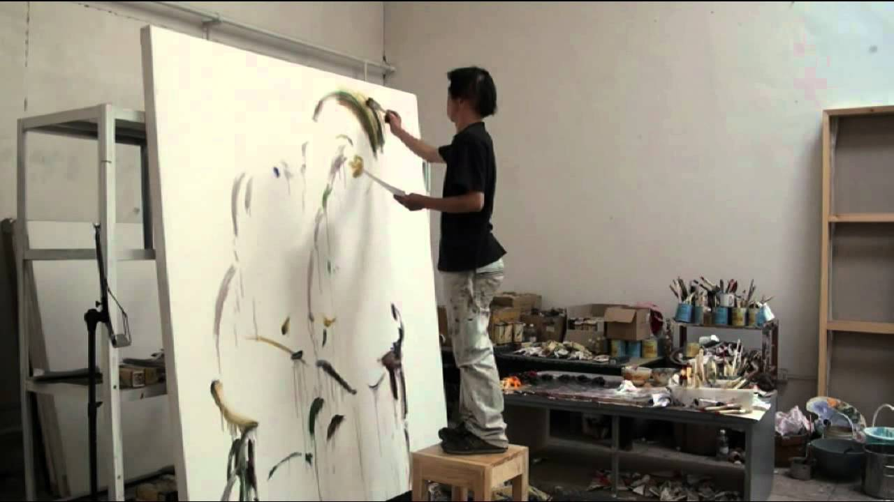 liu zhengyong galerie dock sud peinture atelier part 1 youtube. Black Bedroom Furniture Sets. Home Design Ideas