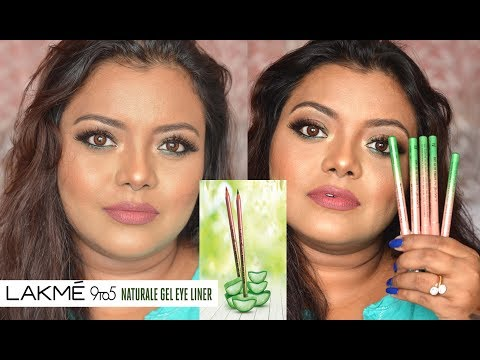 LAKME 9to5 Naturale Gel Eye Liner   All 5 Shades   Review + Swatch
