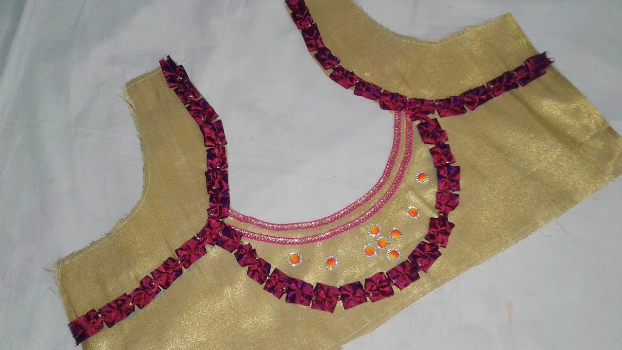 2b0ceabe99feb8 Saree Blouse Designs cutting and Stitching at Home # DIY # Women ...