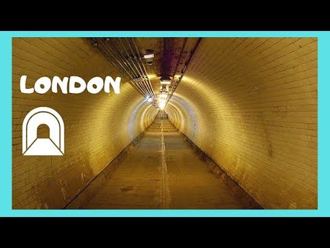 LONDON: Crossing the GREENWICH FOOT TUNNEL under RIVER THAMES