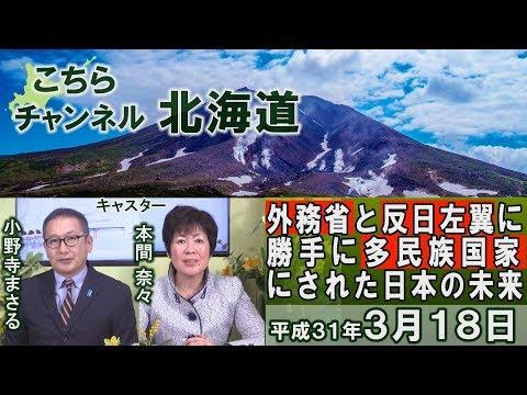 【ch北海道】外務省と反日左翼に勝手に多民族国家にされた日本…その恐るべき未来[H31/3/18]