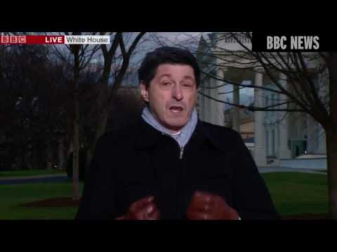 "2017 - UK - Audience Puzzled by BBC Presenter Jon Sopel's ""Magic Gloves"" - 28/1/17"