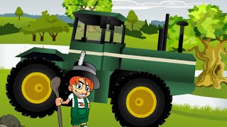 Tractor Cartoon, Funny Cartoons for Children