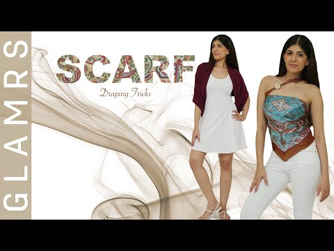 4 New Ways To Style A Scarf this Diwali   Draping Tricks for 2017