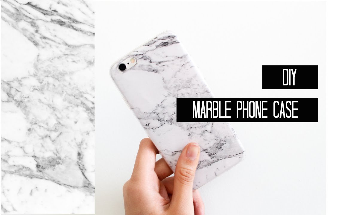 DIY: Marble Phone case - YouTube