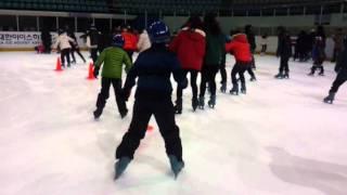 새 빙상종목 - 인간 장애물 경기 (@ 목동 실내아이스…