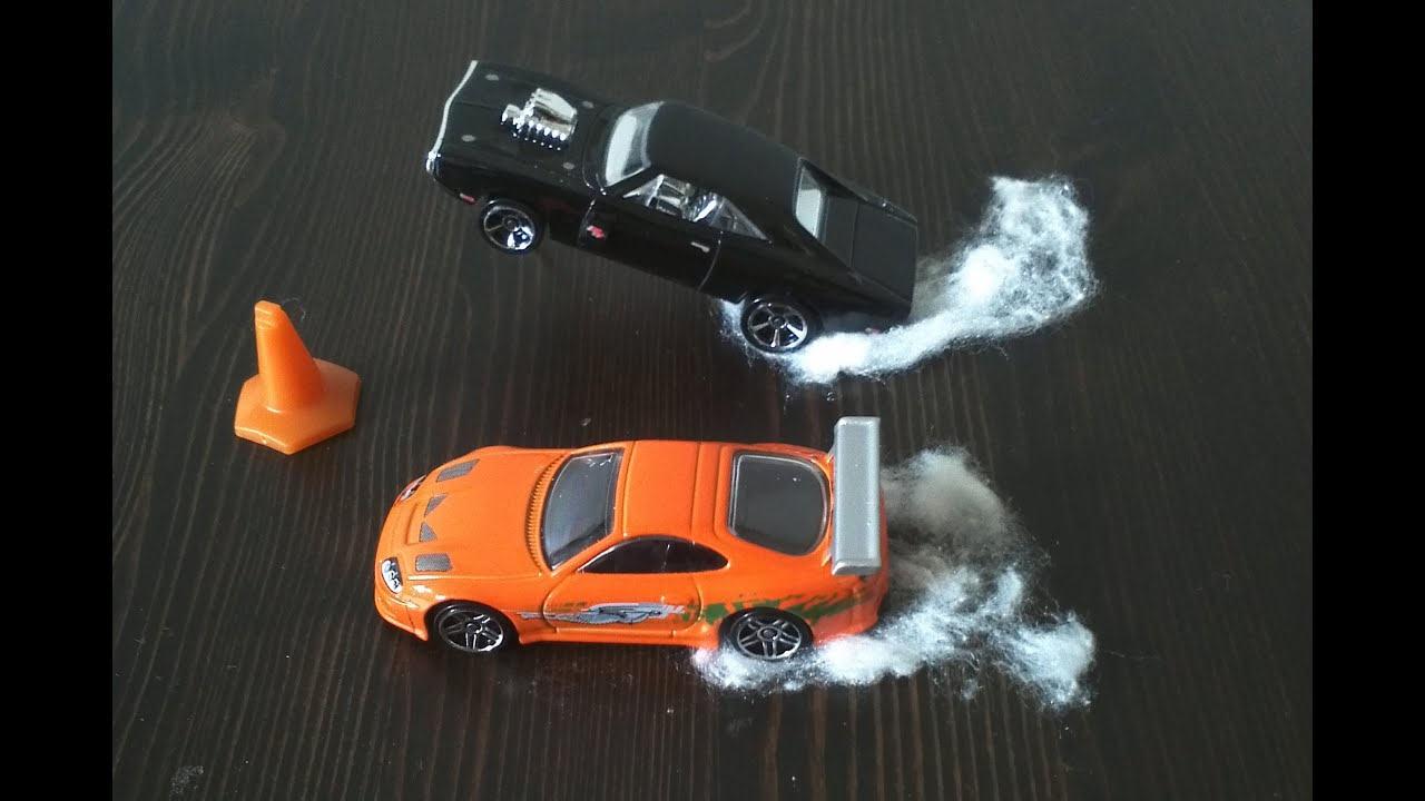 Supra Vs Charger >> Hot Wheels Fast and Furious Toyota Supra vs Dodge Charger R/T 1/4 Mile Race - YouTube