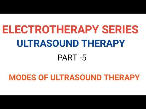 Electrotherapy series-ULTRASOUND THERAPY PART -5 (MODES OF US THERAPY)